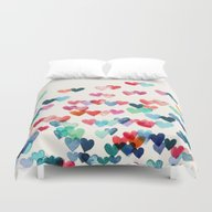 Heart Connections - Wate… Duvet Cover