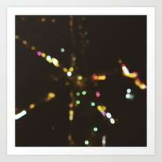 Starry nights:Paris 1 Art Print