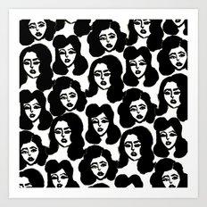 Retro Girls Art Print