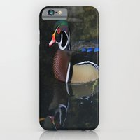 iPhone & iPod Case featuring Reflective Wood Duck by Deborah Benoit