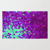 Purple And Teal Abstract… Rug