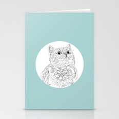 Kitty Cat In A Circle Stationery Cards