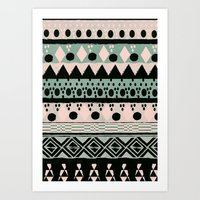 PASTEL NORDIC TRIBAL  Art Print