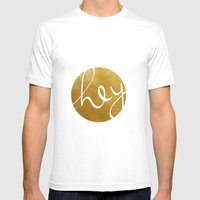 Hey, Stranger! Mens Fitted Tee White SMALL