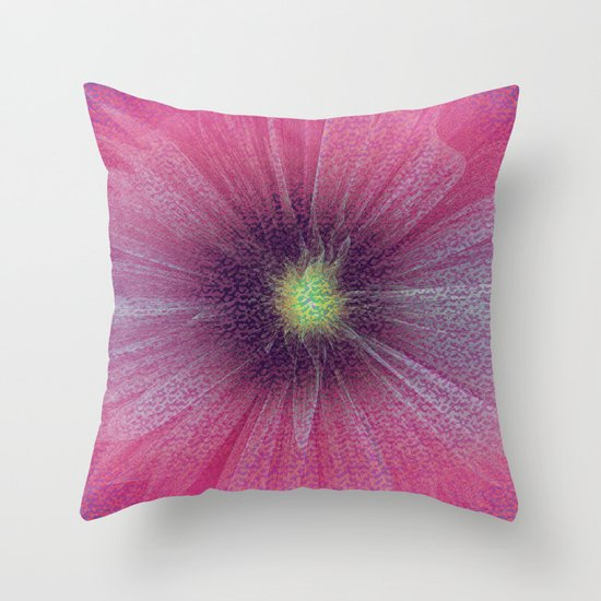 Abstract Flower - pink Throw Pillow