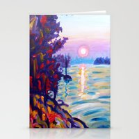 Gold Island Sunset  Stationery Cards