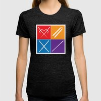 The Weapons Womens Fitted Tee Tri-Black SMALL