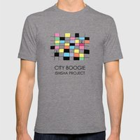 CITY BOOGIE  by ISHISHA PROJECT Mens Fitted Tee Tri-Grey SMALL