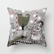 A is for Alice Throw Pillow
