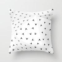 Folded Arrows Pattern Throw Pillow