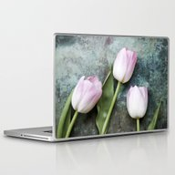 Laptop & iPad Skin featuring Pink Tulips by Maria Heyens