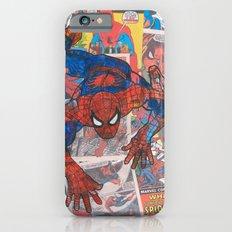 vintage comic spider man  iPhone 6 Slim Case