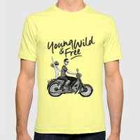 The Ride Mens Fitted Tee Lemon SMALL