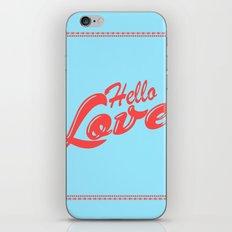 Hello, love   Typography iPhone & iPod Skin