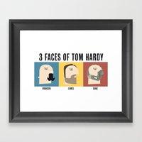3 Faces Of Tom Hardy Framed Art Print