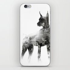 Doberman Pinscher NYC Skyline iPhone & iPod Skin