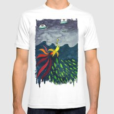 The Aventure of a Banana SMALL White Mens Fitted Tee