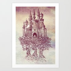 Castle in the Trees Art Print