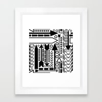 Arrows Pattern Framed Art Print