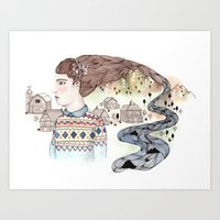 Cold Water Art Print