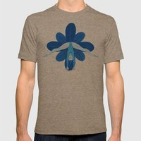 Blue Mens Fitted Tee Tri-Coffee SMALL