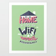 Home Wifi Art Print