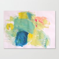 Life in Aqua Canvas Print