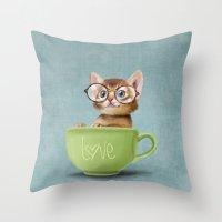 Mr. Micio Miao - Kitten … Throw Pillow