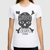 Seiver Fever Womens Fitted Tee Ash Grey SMALL