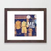 Me and Him Framed Art Print