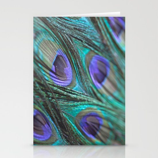 Peacock Fashion Stationery Card