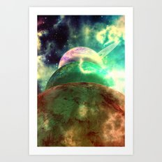 Meanwhile, Somewhere In … Art Print