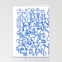 Blue space Stationery Cards