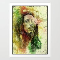Reggae Rebel (Marley) Art Print