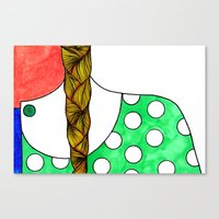 Canvas Print featuring Braid and Polka Dot by SmallIslandInTheSun