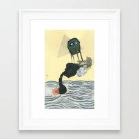 Go-Fast Boat Framed Art Print