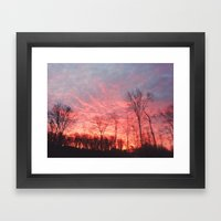 Fire in The Sky II Framed Art Print