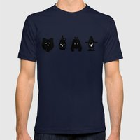 cowardly lion, tin man, dorothy & scarecrow Mens Fitted Tee Navy SMALL