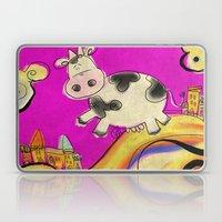 Cow - magenta Laptop & iPad Skin