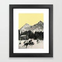 Winter Races Framed Art Print