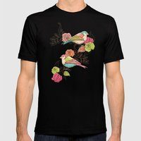 Country Garden Mens Fitted Tee Black SMALL