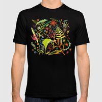 Tropical Mens Fitted Tee Black SMALL