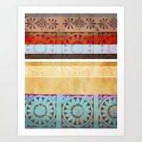 Textiles Art Print