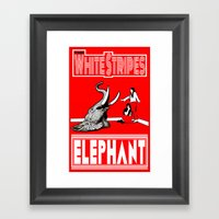 The White Stripes  |  El… Framed Art Print