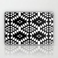 Aztec Inspired Pattern White & Black Laptop & iPad Skin