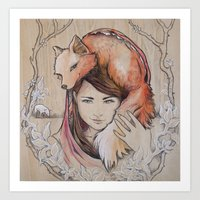 Safe In My Red Riding Ho… Art Print