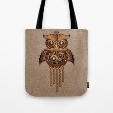 Steampunk Owl Vintage Style Tote Bag