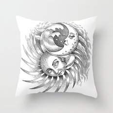 Moon and Sun Throw Pillow