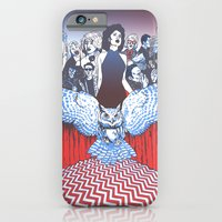iPhone & iPod Case featuring BLACK LODGE BURLESQUE by zack soto