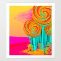 Candy Woods Art Print